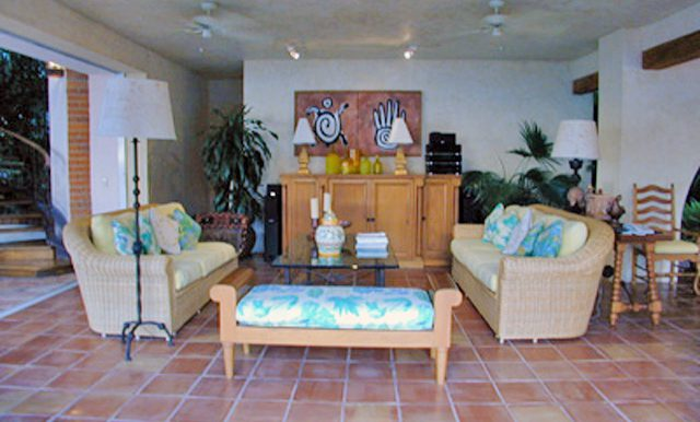 Beautiful living room from puerto vallarta